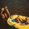 Au lac Joannès avec papa