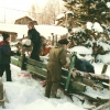 Rentrer le bois l'hiver